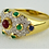 Thumbnail: 18ct Gold Ring With Cabochon Ruby & Emeralds