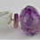 Thumbnail: White Barque Pearls With Diamond cut Amethyst