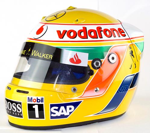 Lewis Hamilton (MBE) Signed 2007 Helmet