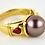 Thumbnail: 18ct Gold South Sea Black Pearl Ring