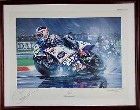 Double Take by Nicholas Watts. Signed in Pencil by Freddie Spencer