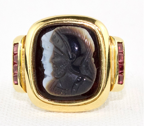 Mans Helen of Troy 18ct Gold Ring