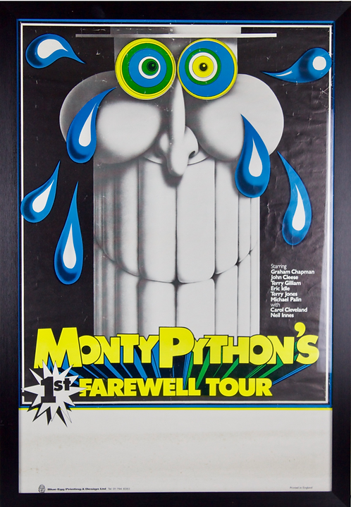 Eric Idle Signed Poster of Monty Python's 1st Farewell Tour