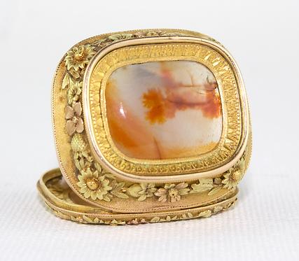 1830 Swiss 18ct Three Colour Gold Box