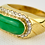 Thumbnail: 18ct Gold Chinese Jadeite Saddle Ring