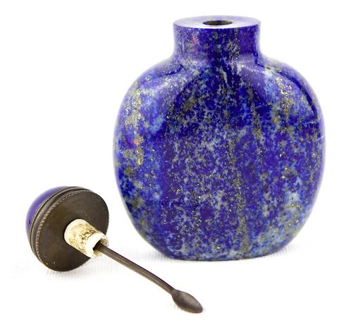 19th Century Chinese Lapis Lazuli Snuff Bottle