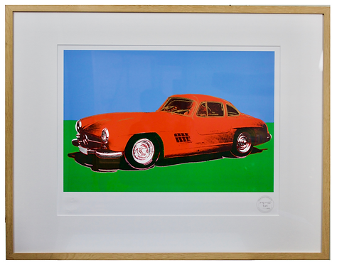 Andy Warhol 1920-1987 Original Screen Print of Mercedes 300SL Gullwing