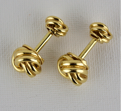 A Pair of Italian 14ct Gold Love Knot Cufflinks