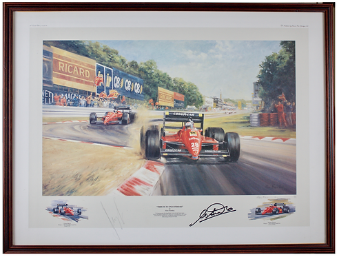 Tribute to Enzo Ferrari by Alan Fearnley (Signed)