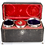 Thumbnail: Rare Set of Silver Tea Caddy Cream and Sugar Baskets