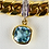 Thumbnail: 18ct Gold Gem Set Bracelet With Four Diamond Panel