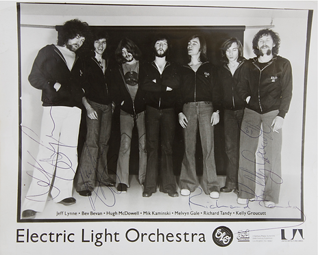 1970s Electric Light Orchestra Signed Photograph