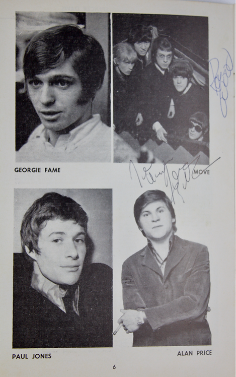 Signed 1967 NME Poll Winners Concert Programme