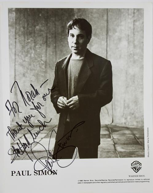 Paul Simon Signed Publicity Photograph