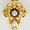 Thumbnail: 18ct Gold Art Deco Style Pearl & Drop Pearl Pendent