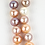 Thumbnail: Large Multicolour Pearls with 18ct Gold Clasp