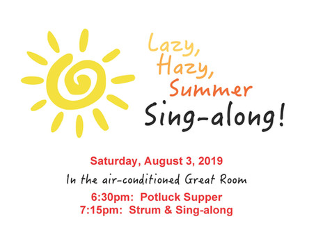 Sing-Along Welcomes in August