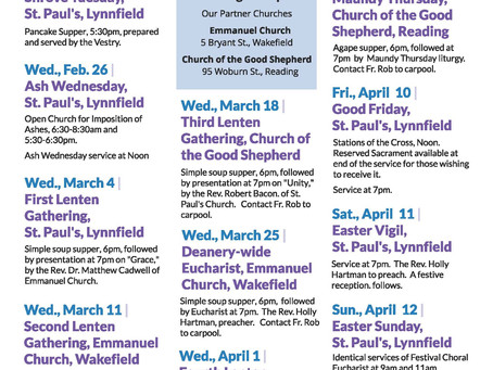 Renewing Our Spirits Lenten Series