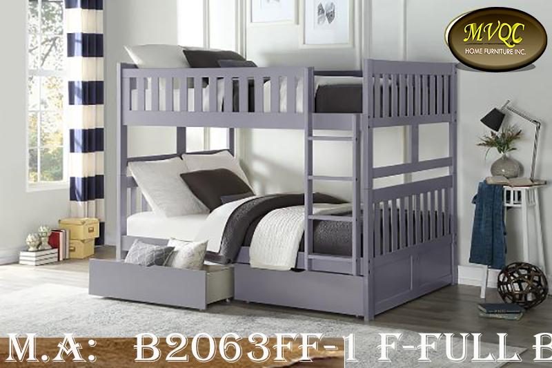 B2063FF-1 F-Full bunk w-drawers