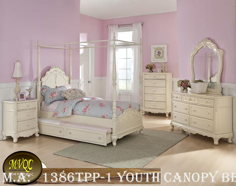 1386TPP-1 youth canopy bedroom