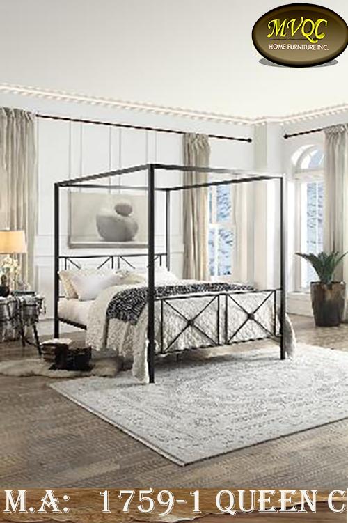 1759-1 queen canopy bed