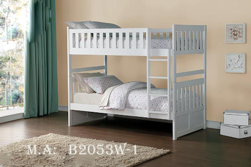 B2053W-1 twin twin bunkbed