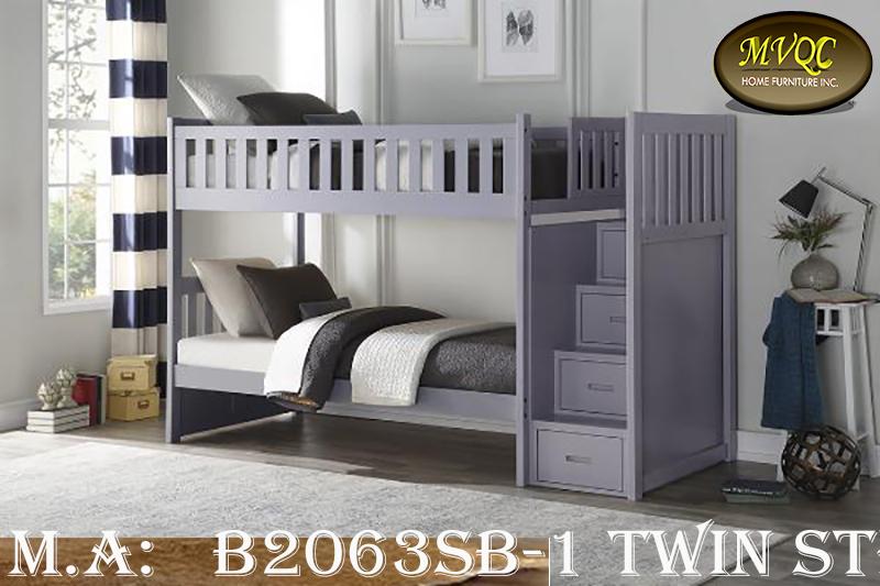 B2063SB-1 twin step bunkbed