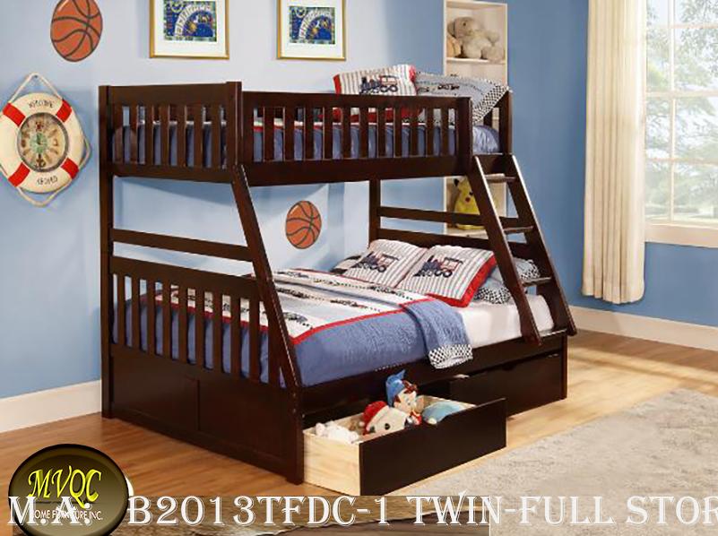 B2013TFDC-1 twin-full storage bunk