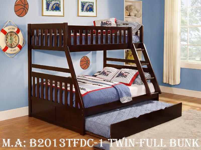 B2013TFDC-1 twin-full bunk w-trundle