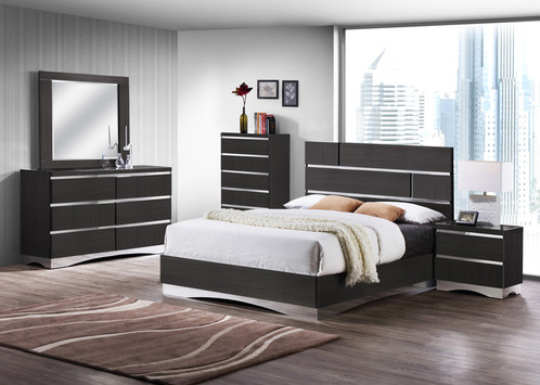 Stylish Chrome Modern Bedroom Set And Traditional Bed Furniture Stanton