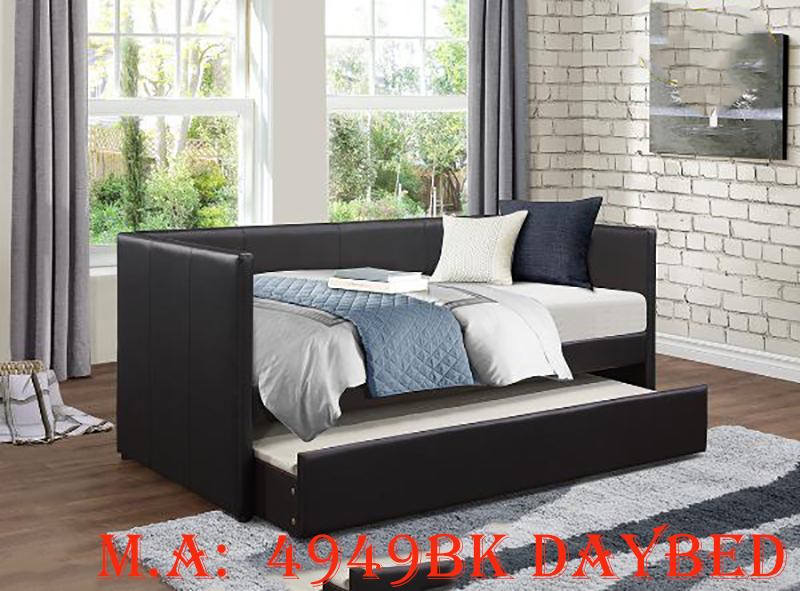4949BK daybed w-trundle