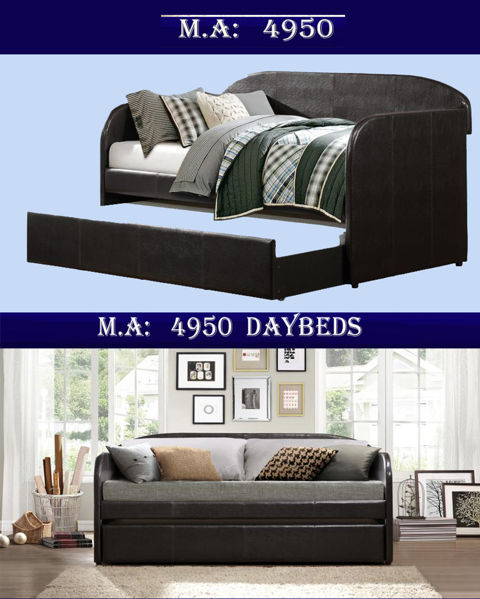 1-4950  daybeds