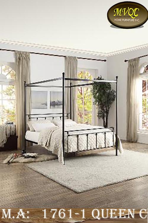 1761-1 queen canopy bed