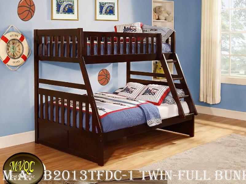 B2013TFDC-1 twin-full bunkbed