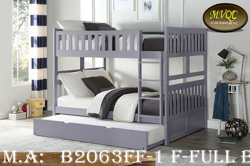 B2063FF-1 F-Full bunk w-trundle