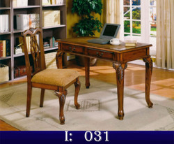 modern writing desk, armchairs, chairs