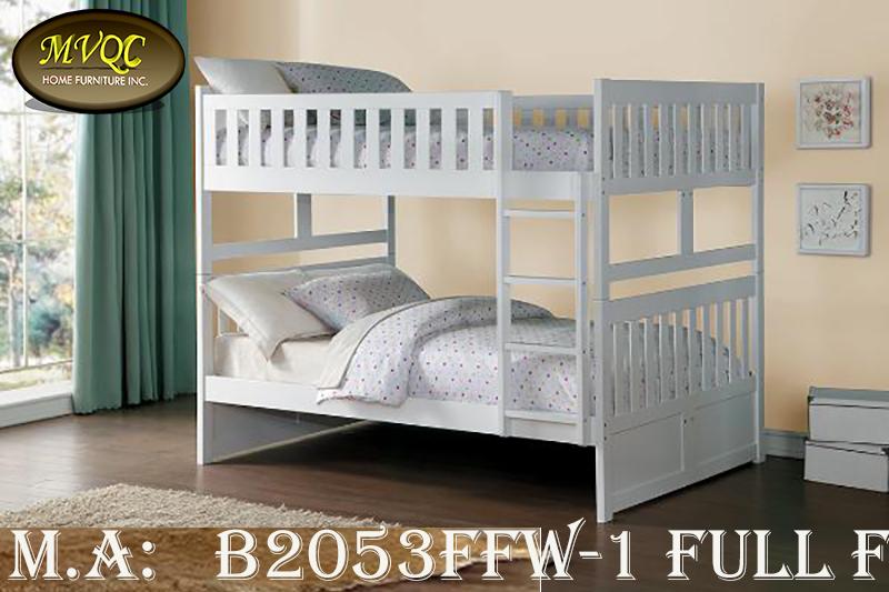 B2053FFW-1 full full bunkbed