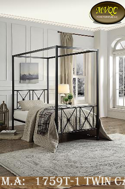 1759T-1 twin canopy bed