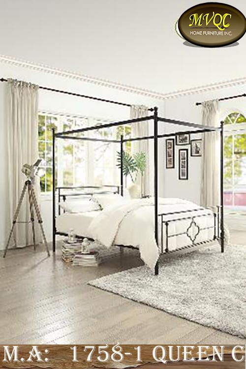 1758-1 queen canopy bed
