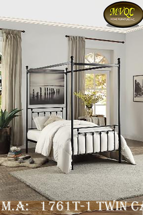 1761T-1 twin canopy bed