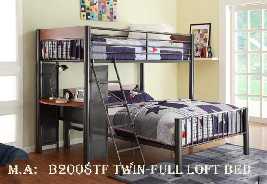 B2008TF twin-full loft bed