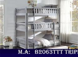 B2063TTT Triple Bunk Bed
