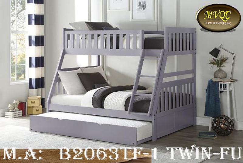 B2063TF-1 Twin-Full bunk w-trundle