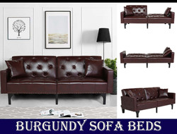 Burgundy sofa beds sets