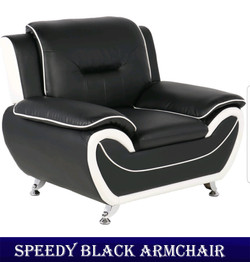 SPEEDY BLACK ARMCHAIR