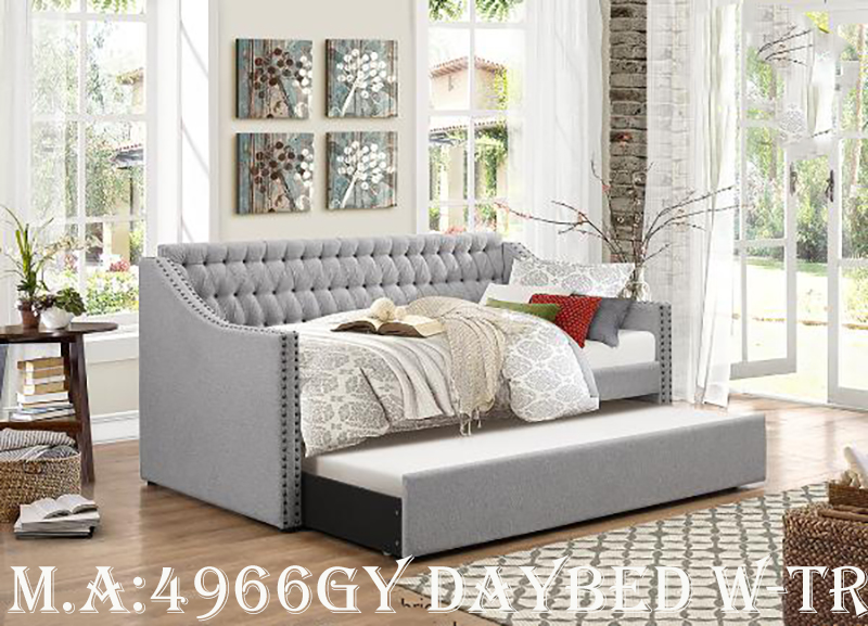 4966GY daybed w-trundle