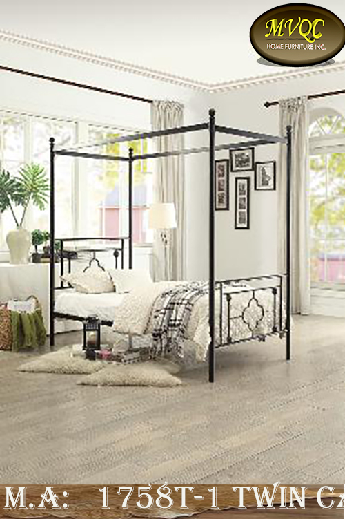 1758T-1 twin canopy bed
