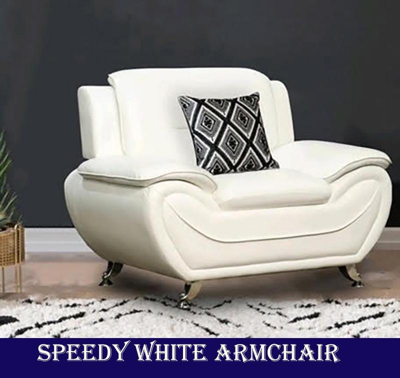 SPEEDY WHITE ARMCHAIR