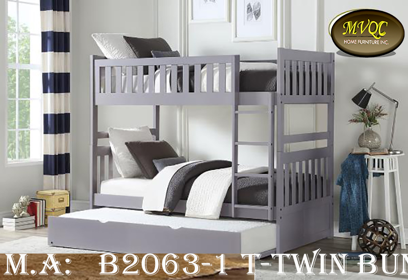 B2063-1 T-Twin bunk w-trundle