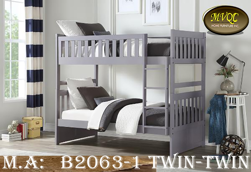 B2063-1 twin-twin bunkbed